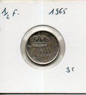 Monaco. 1/2 Franc 1965 - Monaco