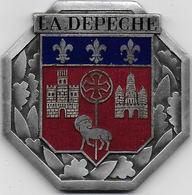 Toulouse - LA DEPECHE - Rare Médaille émaillée Drago Paris Nice - Unclassified
