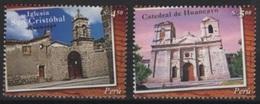 Peru (2005) Yv. 1477/78  /  Heritage - Church - Iglesia - Eglise - Kerken En Kathedralen
