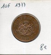 Monaco. 10 Francs 1977 - 1960-2001 Nouveaux Francs