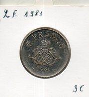 Monaco. 2 Francs. 1981 - Monaco