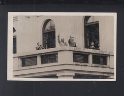 Dt. Reich AK Hitler Und Mussolini Auf Dem Balkon 1937 - Personaggi Storici