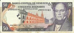 VENEZUELA - 50 BOLIVARES - 1977 - J0003342 - GOOD CONDITION - RARE - Venezuela