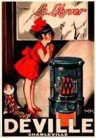 Publicité  -  Chaufage -  Poele Deville  - Charleville -  La Silyver  - SC73-2  - R/V - Advertising