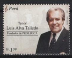 Peru (2005) Yv. 1489  /  Musique - Musica- Music - Singer - Tenor - Luis Alva Talledo - Musica