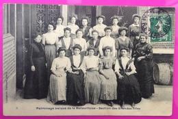 Cpa Paris 20 Patronage Laique De La Bellevilloise Section Grandes Filles Carte Postale 75 Rare - Arrondissement: 20