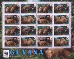 Guyana 2011, WWF, Bush Dog, 4valx4 In Sheetlet - W.W.F.