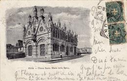 Cpa,italie Et Rare,toscana,pisa,chiesa Santa Maria Della Spina,1901 - Pisa