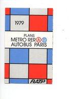 Plan Métro RER Autobus PARIS - 1979 - RATP - Cartes Géographiques
