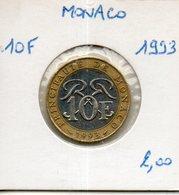 Monaco. 10 Francs 1993 - Monaco