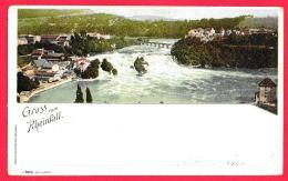 [DC11810] CPA - SVIZZERA - GRUSS VOM RHEINFALL - SUISSE - PERFETTA - RARA - Viaggiata 1899 - Old Postcard - Svizzera