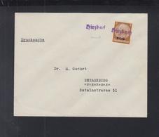 Dt. Reich Elsass Drucksache Hirzbach Nach Strassburg - Besetzungen 1938-45