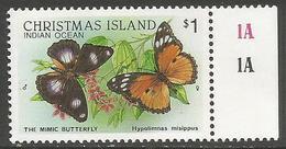 Christmas Island - 1988 Mimic Butterfly $1 MNH **    Sc 209 - Christmas Island