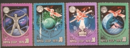 X3 Russia USSR MNH Complete Of Set 4v. - 1978 International Space Cooperation - 1923-1991 USSR