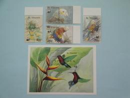 1989 St Vincent Oiseaux Birds Yv 1131/4 + BF53 ** Scott Xx Michel  1222/5 +B74  SG Xx - Oiseaux