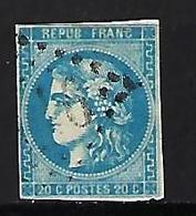 "FR YT 46A "" Ceres 20c. Bleu "" 1871 GC X6? - 1870 Bordeaux Printing"