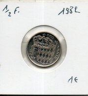 Monaco. 1/2 Franc 1982 - 1960-2001 Nouveaux Francs