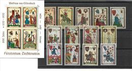 1559i: Mittelalterliche Trachten, ** Serie Mit Block Liechtenstein, Postpreis Ca. 12.- Euro - Textil