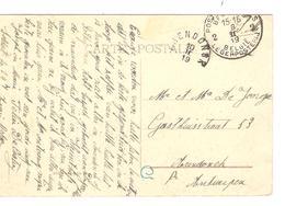 CP Malines Petit Séminaire En SM C.PMB-BLP 8/2/19 V.Arendonck C.Fortune En Arrivée 10/2/1919 JS240 - Fortune Cancels (1919)