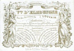 PORCELEINKAART - Tapisseries Vve D'Elhoungne - Leuven