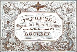 PORCELEINKAART - Vve Frébos Bottes Et Souliers - Leuven
