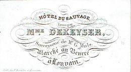 PORCELEINKAART - Mme Dekeyser Hôtel Due Sauvage - Leuven