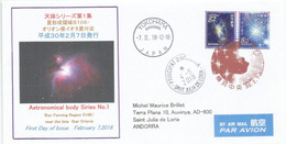 JAPAN. Sigma Orionis Star, Special Cover 2018 From Yokohama Addressed To Andorra - Sterrenkunde