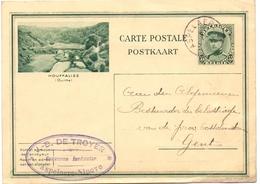Briefkaart Carte Postale - Landmeter JB De Troyer - Aspelare Ninove  Naar Gent 1930 - Entiers Postaux
