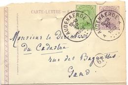 Omslagbrief - Carte Lettre - Audenaerde - Oudenaarde  Naar Gent 1922 - Entiers Postaux