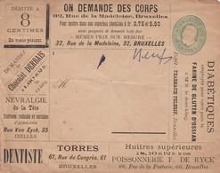 "Stationary 1889 ""ON DEMANDE DES CORPS"" : Diabetes Nevralgy Chocolate Oyster Dentist Tooth Sewing Macine Tea Coffee Wine - Disease"