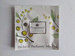 échantillon Pochette Parfumée Fragonard Mimosa - Perfume Samples (testers)