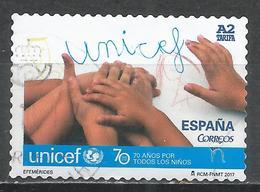 Spain 2017. Scott #4209 (U) UNICEF 70th Anniv. * - 1931-Today: 2nd Rep - ... Juan Carlos I