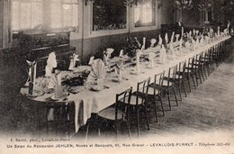 Carte Postale Ancienne. LEVALLOIS-PERRET. RUE GRAVEL. SALON DU RESTAURANT JEHLEN.achat Immédiat - Levallois Perret