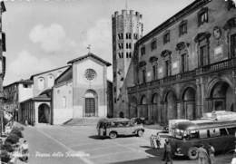 """07795 """"(TERNI) ORVIETO - PIAZZA DELLA REPUBBLICA"""" ANIMATA, TORPEDONI. CART SPED 1957 - Terni"""