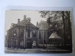Hillegom (ZH) Her. Kerk En Politiebureau // 19?? Papierresten Adreszijde - Other
