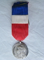 """Médaille Argent """" Commune - Travail - Industrie ) - Army & War"""