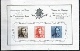 PIA - BELGIO - 1949 : Foglietto Ricordo Per Il Centenario Dei Primi Francobolli Belgi - Documenti Della Posta