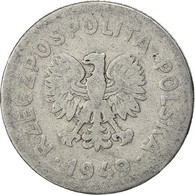 Pologne, Zloty, 1949, Warsaw, B+, Aluminium, KM:45a - Polonia