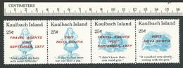 B50-78 CANADA Kaulbach Island 1977 Alice Wonderland Travel MNH - Local, Strike, Seals & Cinderellas
