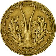 Monnaie, West African States, 5 Francs, 1981, TTB, Aluminum-Nickel-Bronze, KM:2a - Ivory Coast