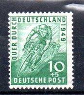 Allemagne Bizone / N 74 / 10 + 5 Pf Vert / NEUF** - Zone Anglo-Américaine