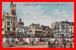 CPA (85) LES SABLES D'OLONNE.  Place Pétain Vue De La Plage, Très Animé...B297 - Sables D'Olonne