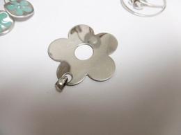 Pendentif En Argent Massif (fleur) - Pendenti