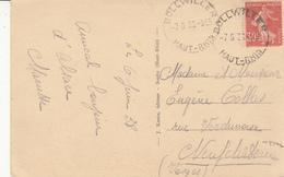CP Affr Y&T 160 Obl BOLLWILLER Du 7.6.86 Adressée à Neufchateau - Poststempel (Briefe)