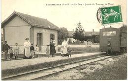♥PROMO♥ CPA LUISETAINES (dpt 77). LA GARE. ARRIVEE DU TRAMWAY DE NANGIS - Other Municipalities