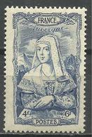 FRANCE , FRENCH , 4 Frs + 6 Frs , Au Profit Du Secours National , Auvergne , 1943 , N° YT  597 ( ** ) - France