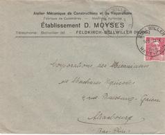 Env Affr Y&T 721A Obl BOLLWILLER Du 23.4.1948 Adressée à Strasbourg - Poststempel (Briefe)