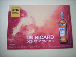 PUBLICITE : Un Ricard Des Rencontres - Lot De 2 Cartes Postales - (Lot 18.207/18.208)) - Reclame