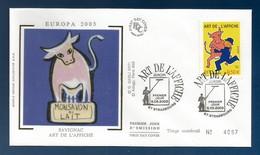 Frankreich  2003   Mi.Nr. 3694 , EUROPA CEPT - Plakatkunst - FDC - Premier Jour Strasbourg 8.05.2003 - 2003