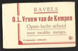 +++ CPA - Carnet Complet De 32 Cartes - RAVELS - O.L.Vrouw Van De Kempen - Open Lucht School Voor Zwakke Meisjes   // - Ravels